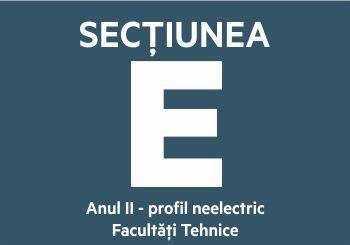 Secțiunea E