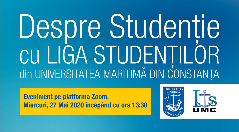 Despre Studenție -evenimentLIVE cu LIGA STUDENȚILOR din Universitatea Maritimă din Constanța