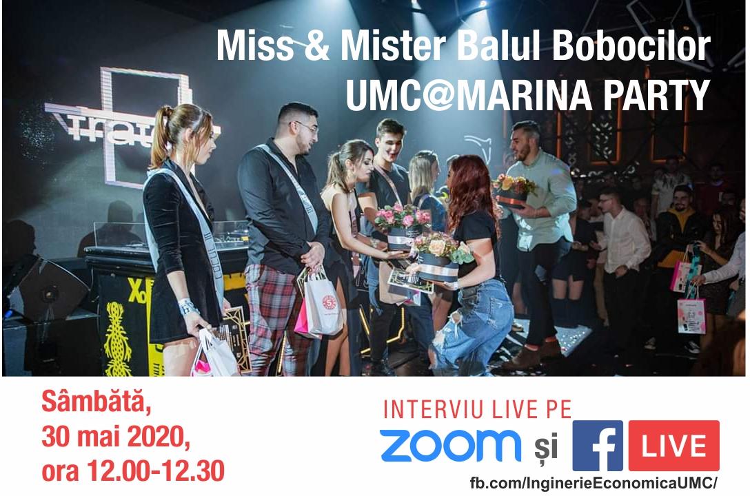 Interviu online cu Miss & Mister Balul Bobocilor si Liga Studentilor UMC