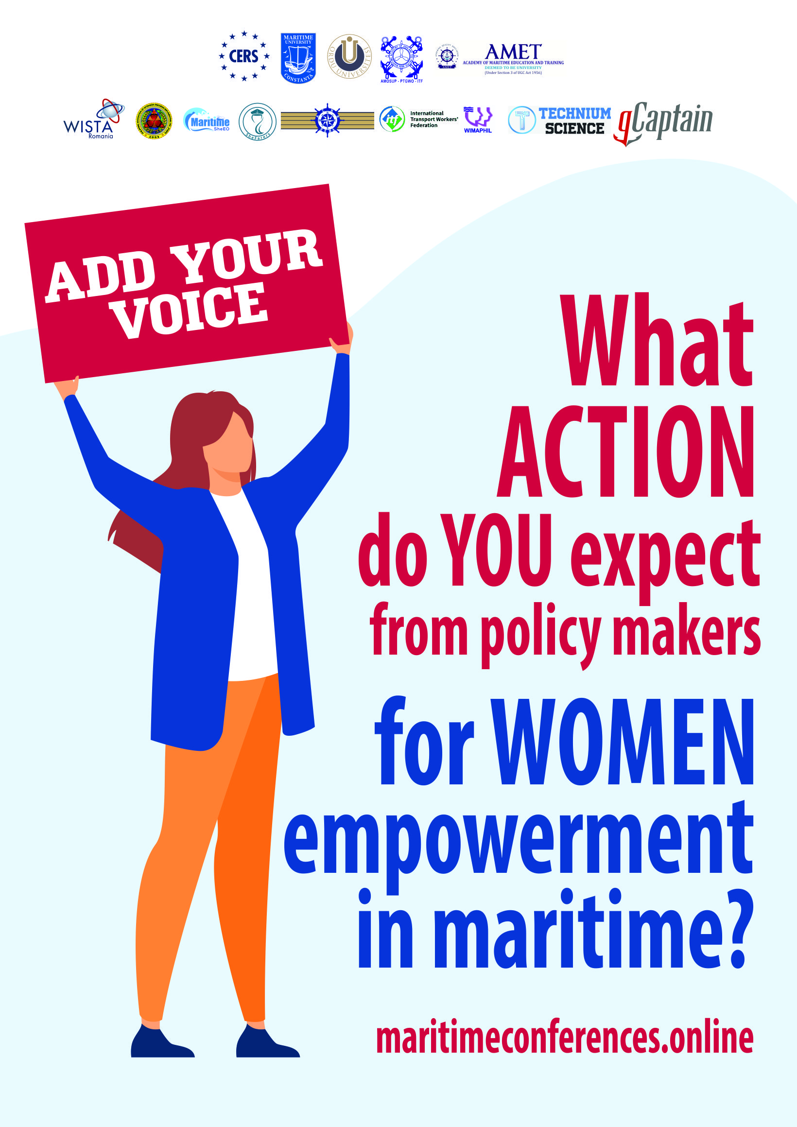 Send your suggestions for AGENDA OF CHANGE: Gender Equality in Maritime (SDG 5) !