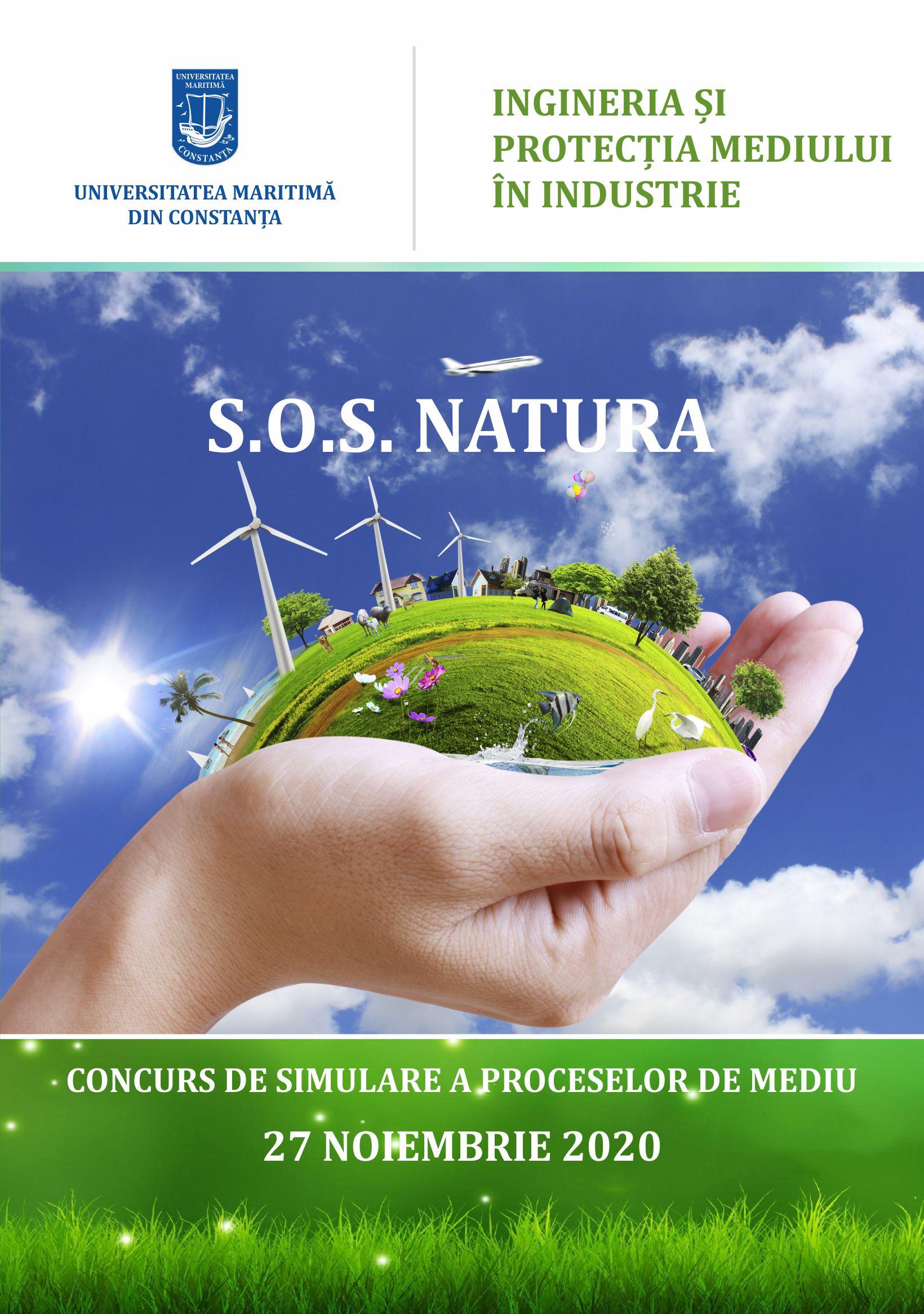 """SOS Natura"" – Vineri, 27 noiembrie 2020, ora 11.00, Universitatea Maritimă din Constanța"