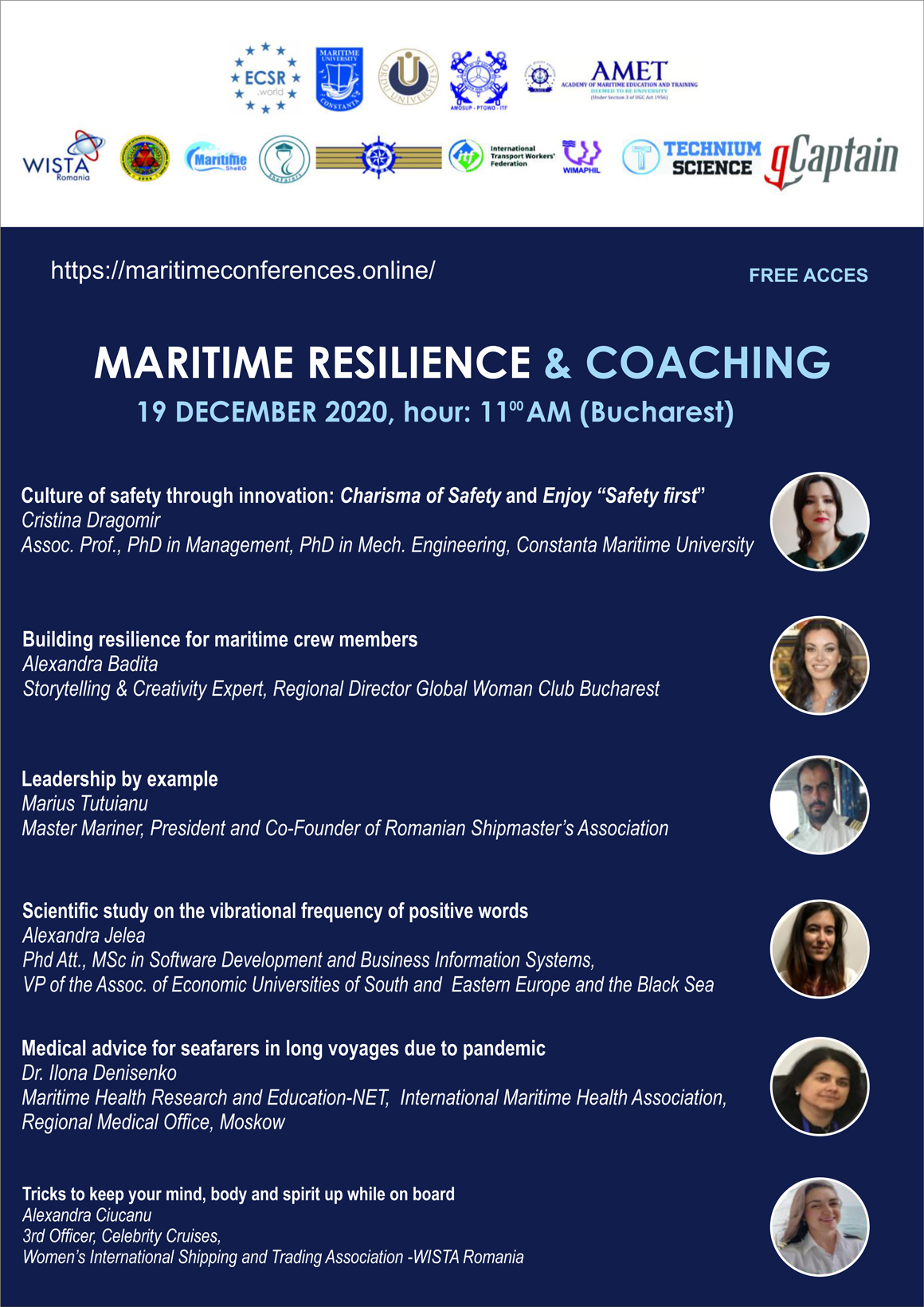 19 Dec 2020 – Maritime Resilience & Coaching