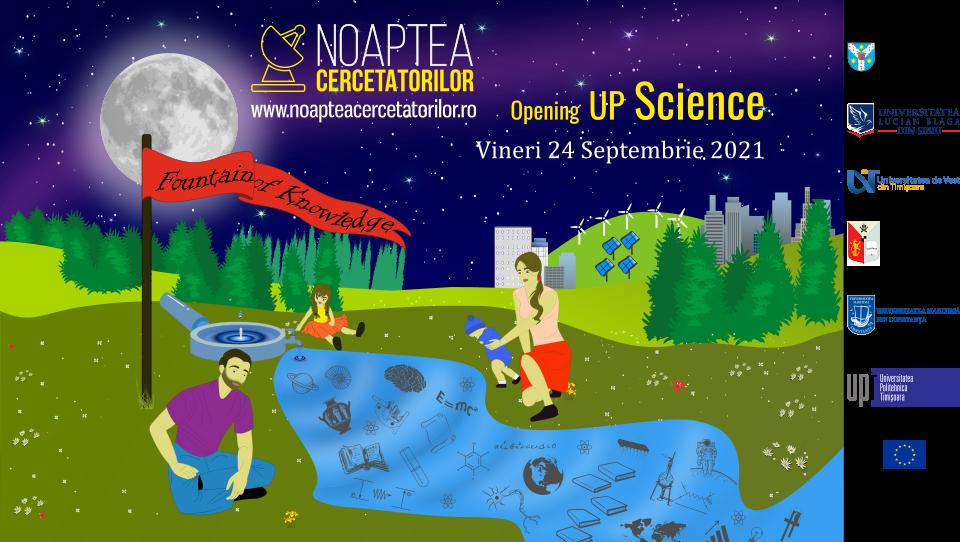 NOAPTEA CERCETĂTORILOR EUROPENI OPENING UP SCIENCE 24 SEPTEMBRIE 2021